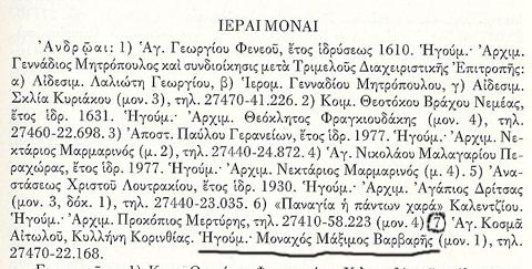 Δίπτυχα Εκκλησίας Ελλάδος 2006 σελ, 625